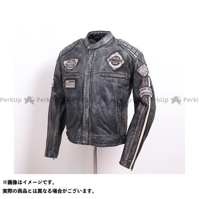 デグナー ジャケット 2020春夏モデル 20SJ-7 ワックスレザージャケット(ブラック/ブラウン) サイズ:L DEGNER