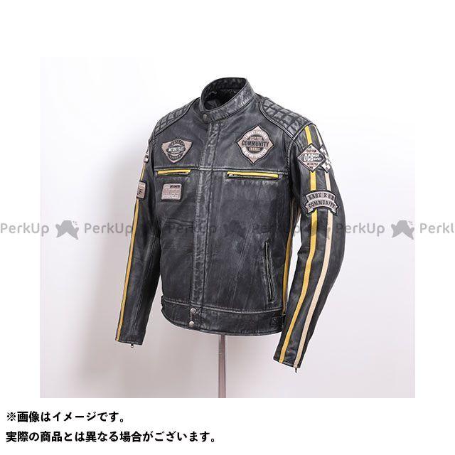 デグナー ジャケット 2020春夏モデル 20SJ-7 ワックスレザージャケット(ブラック/イエロー) サイズ:L DEGNER