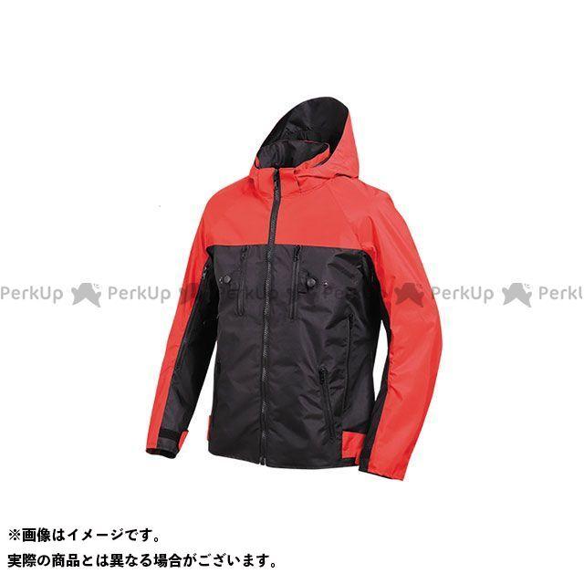 デグナー ジャケット 2020春夏モデル 20SJ-2 テキスタイルフード付ジャケット(ブラック/レッド) サイズ:2XL DEGNER