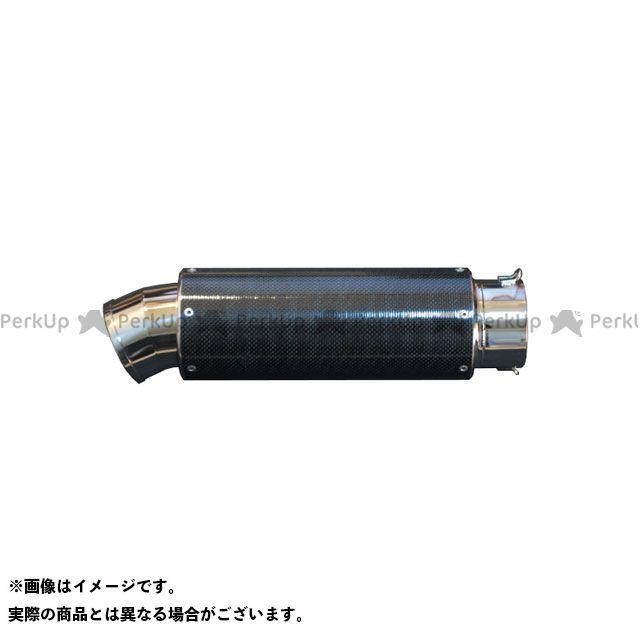 【エントリーで最大P21倍】HOT LAP 汎用 マフラー本体 サイレンサー ステンCAP/カーボンシェル Φ100(76.3) サイズ:400mm ホットラップ