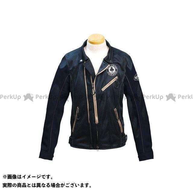 エースカフェ ジャケット 2020春夏モデル SS2002MJ メッシュ Wライダーズジャケット(ブラック) サイズ:S ACECAFE LONDON