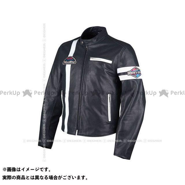 デグナー ジャケット 18SJ-7 レザーメッシュジャケット(ブラック/ホワイト) サイズ:XL DEGNER