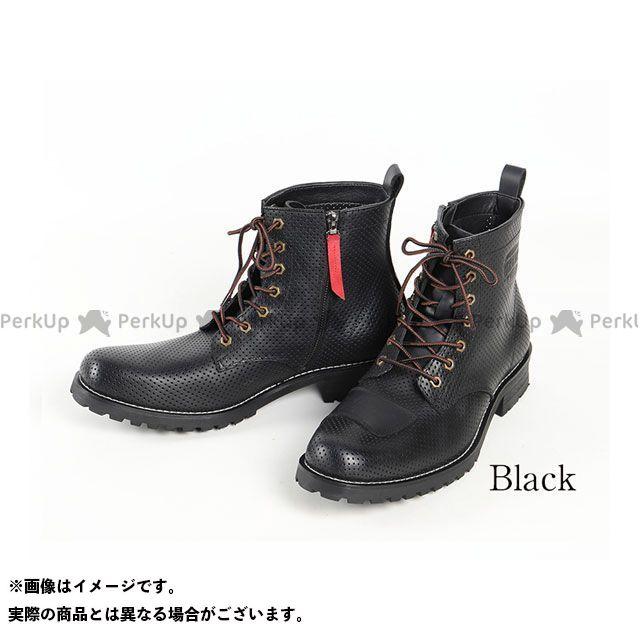 デグナー ライディングブーツ HS-B11M メンズメッシュレザーブーツ(ブラック) サイズ:27.5cm DEGNER