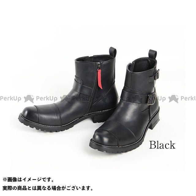 デグナー ライディングブーツ HS-B9 レザーエンジニアブーツ(ブラック) サイズ:25.5cm DEGNER