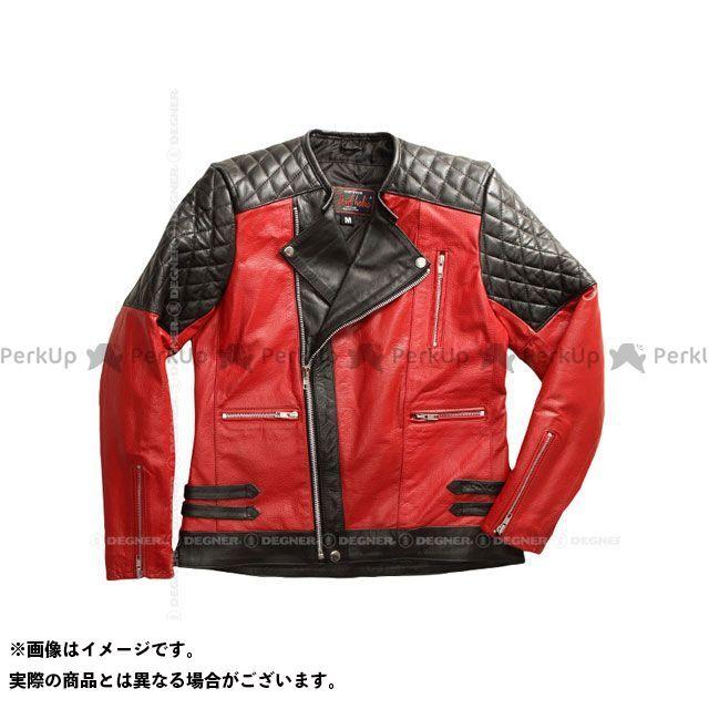 DEGNER レディースアパレル 【特価品】HSJ-15 レディースレザージャケット(ブラック/レッド) サイズ:L DEGNER