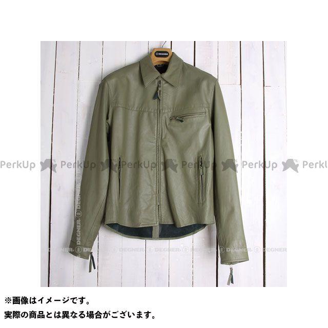 デグナー カジュアルウェア SRS-4 レザーシャツ(カーキ) サイズ:M DEGNER