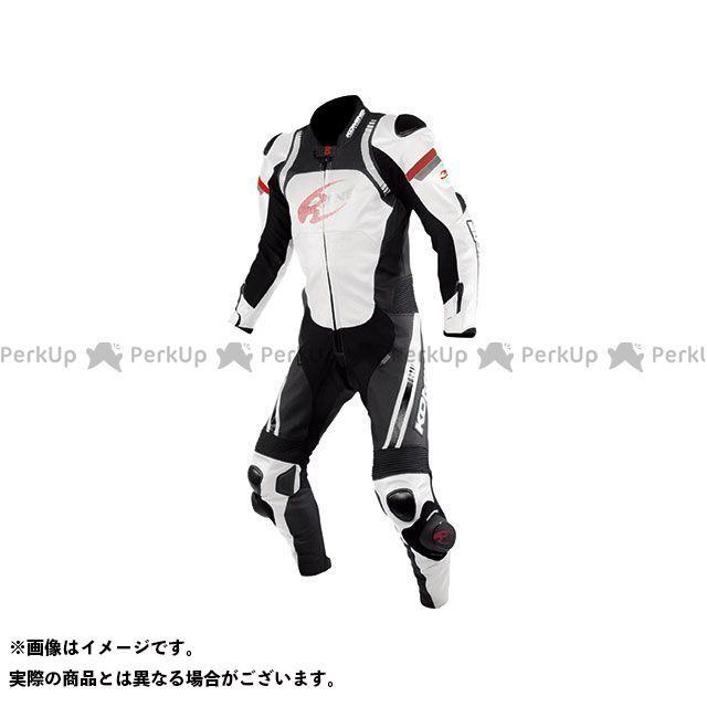 【エントリーで最大P21倍】KOMINE レーシングスーツ 2020春夏モデル S-53 レーシングレザースーツ(ホワイト/ブラック) サイズ:L コミネ