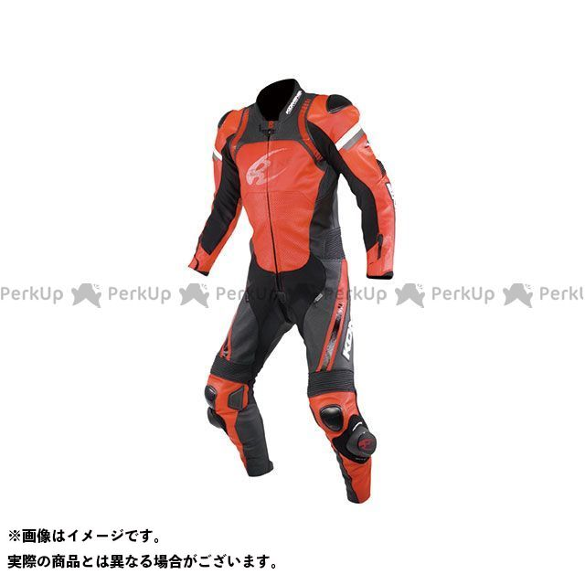 【エントリーで最大P21倍】KOMINE レーシングスーツ 2020春夏モデル S-53 レーシングレザースーツ(レッド/ブラック) サイズ:3XL コミネ
