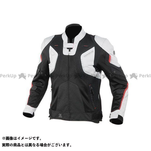 KOMINE ジャケット 2020春夏モデル JK-143 Rスペックメッシュジャケット(ライトグレー/ブラック) サイズ:3XL コミネ