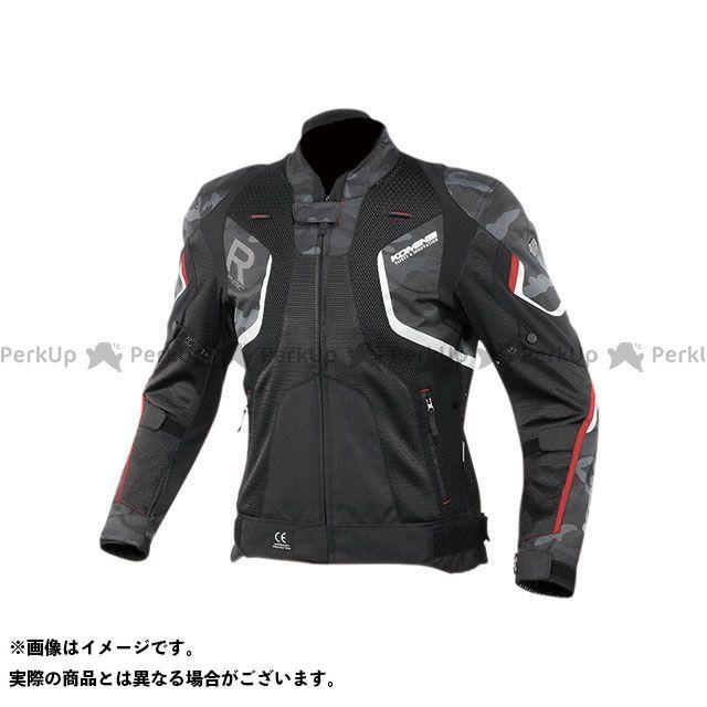 KOMINE ジャケット 2020春夏モデル JK-143 Rスペックメッシュジャケット(ブラックカモ/レッド) サイズ:L コミネ