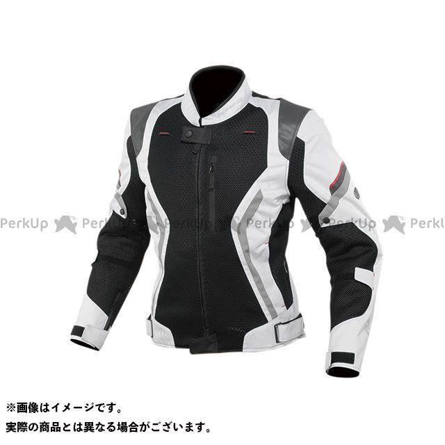 KOMINE ジャケット 2020春夏モデル JK-144 リフレクトメッシュジャケット(ライトグレー/ブラック) サイズ:L コミネ