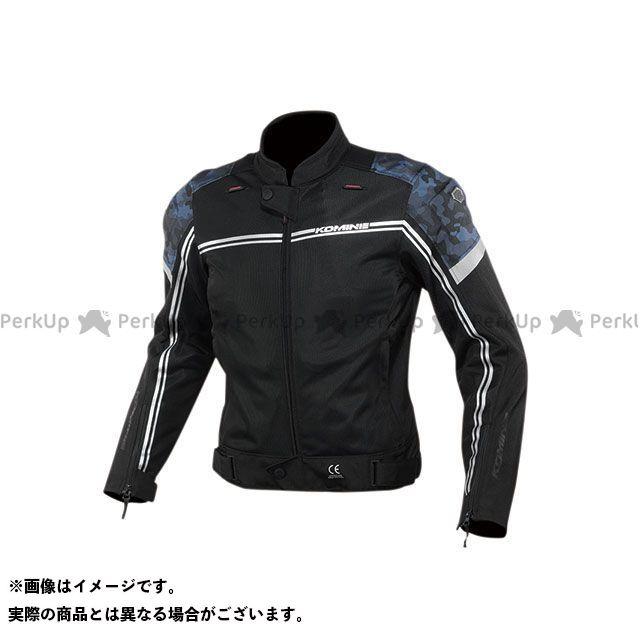 KOMINE ジャケット 2020春夏モデル JK-145 エアストリームメッシュジャケット(ブラック/ブルーカモ) サイズ:L コミネ