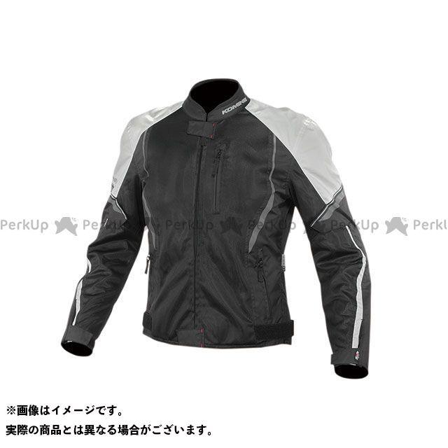 KOMINE ジャケット 2020春夏モデル JK-146 プロテクトハーフメッシュジャケット(ブラック/ライトグレー) サイズ:L コミネ