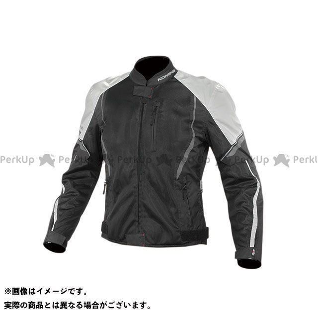 KOMINE ジャケット 2020春夏モデル JK-146 プロテクトハーフメッシュジャケット(ブラック/ライトグレー) サイズ:2XL コミネ