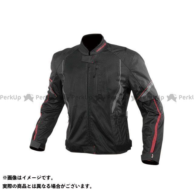 KOMINE ジャケット 2020春夏モデル JK-146 プロテクトハーフメッシュジャケット(ブラック/レッド) サイズ:M コミネ