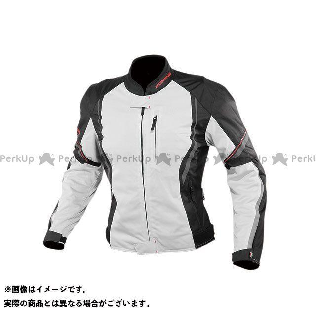 KOMINE ジャケット 2020春夏モデル JK-146 プロテクトハーフメッシュジャケット(ライトグレー/ブラック) サイズ:L コミネ