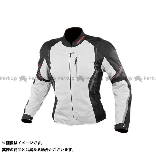 KOMINE ジャケット 2020春夏モデル JK-146 プロテクトハーフメッシュジャケット(ライトグレー/ブラック) サイズ:XL コミネ