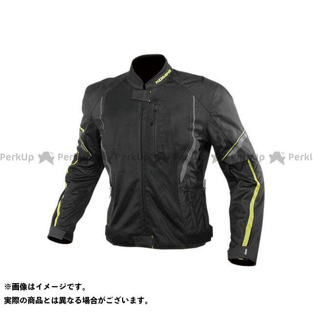 KOMINE ジャケット 2020春夏モデル JK-146 プロテクトハーフメッシュジャケット(ブラック/ネオン) サイズ:S コミネ
