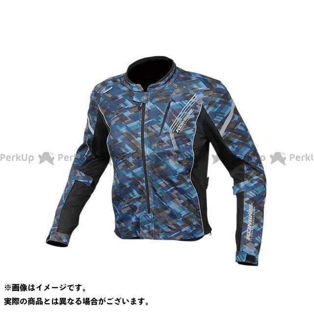 KOMINE ジャケット 2020春夏モデル JK-128 プロテクトフルメッシュジャケット(プレイドネイビー) サイズ:L コミネ