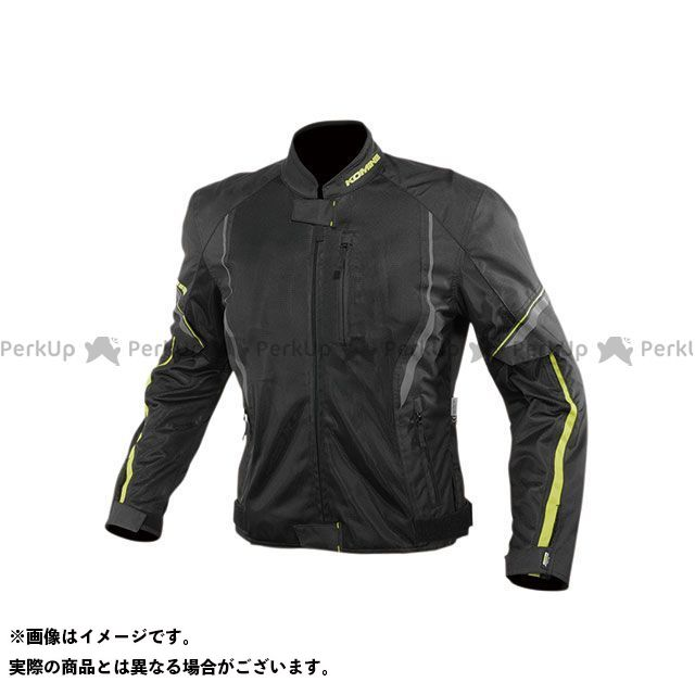 KOMINE ジャケット 2020春夏モデル JK-146 プロテクトハーフメッシュジャケット(ブラック/ネオン) サイズ:WM コミネ
