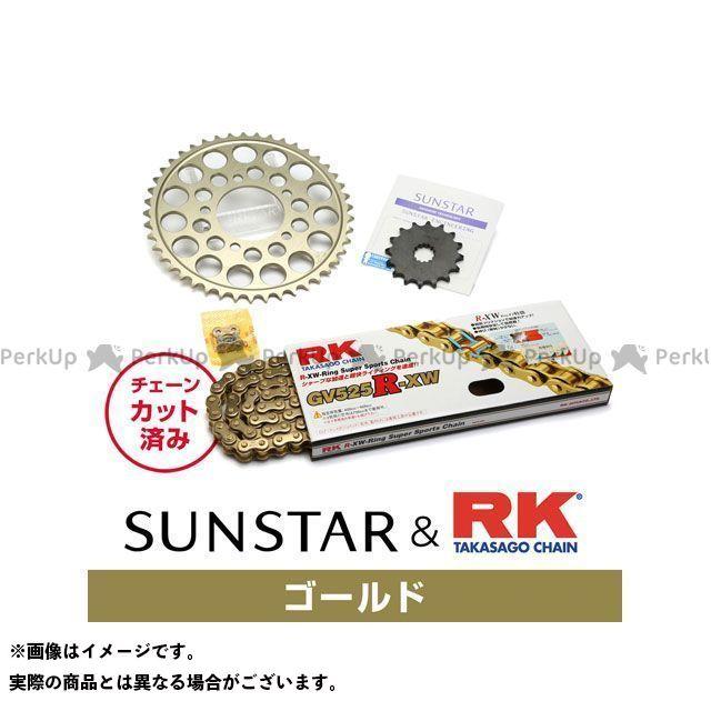 【特価品】SUNSTAR シャドウ600 スプロケット関連パーツ KR43803 スプロケット&チェーンキット(ゴールド) サンスター