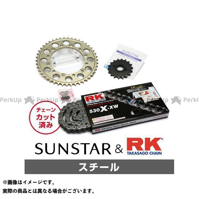 【特価品】SUNSTAR VF1000F VF1000R スプロケット関連パーツ KR54711 スプロケット&チェーンキット(スチール) サンスター
