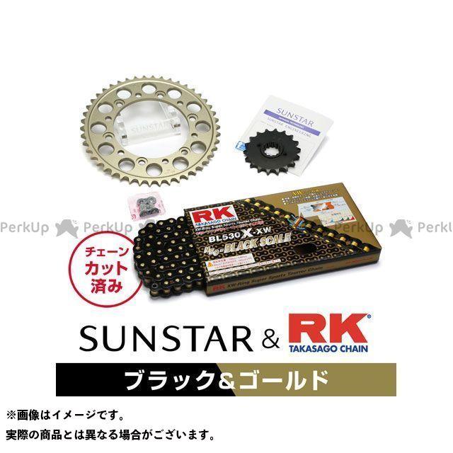 【特価品】SUNSTAR GPZ750R スプロケット関連パーツ KR5B414 スプロケット&チェーンキット(ブラック) サンスター