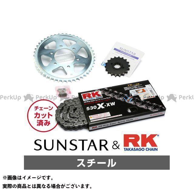 サンスター 訳あり SUNSTAR スプロケット関連パーツ 駆動系 無料雑誌付き チェーンキット (訳ありセール 格安) スプロケット ZXR750 スチール KR5B515
