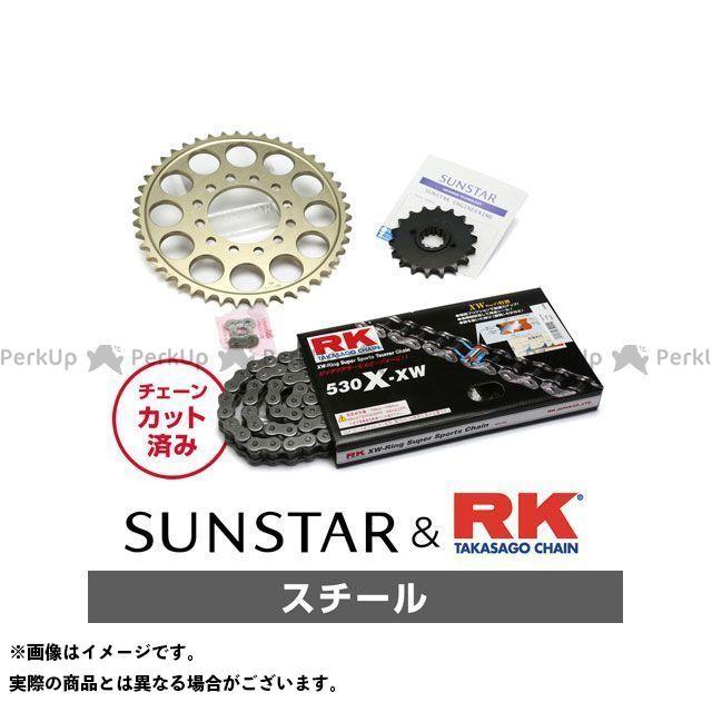 【特価品】SUNSTAR Z1100GP スプロケット関連パーツ KR5D411 スプロケット&チェーンキット(スチール) サンスター