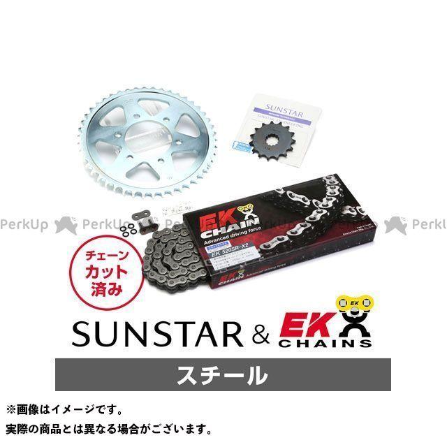 【特価品】SUNSTAR バリオス スプロケット関連パーツ KE30205 スプロケット&チェーンキット(スチール) サンスター