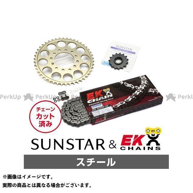 【特価品】SUNSTAR スティード600 スプロケット関連パーツ KE43901 スプロケット&チェーンキット(スチール) サンスター
