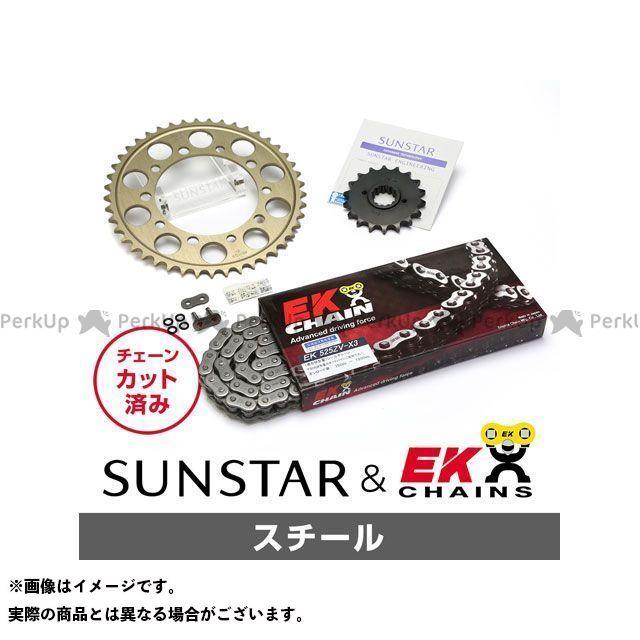 【特価品】SUNSTAR SV1000S スプロケット関連パーツ KE47711 スプロケット&チェーンキット(スチール) サンスター