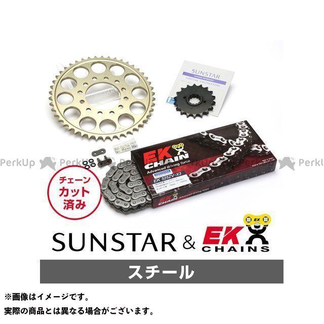 【特価品】SUNSTAR ヴェルシス1000 スプロケット関連パーツ KE49111 スプロケット&チェーンキット(スチール) サンスター