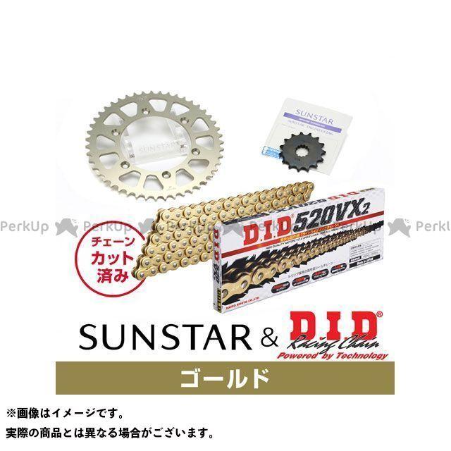 【特価品】SUNSTAR XR250R スプロケット関連パーツ KD34403 スプロケット&チェーンキット(ゴールド) サンスター