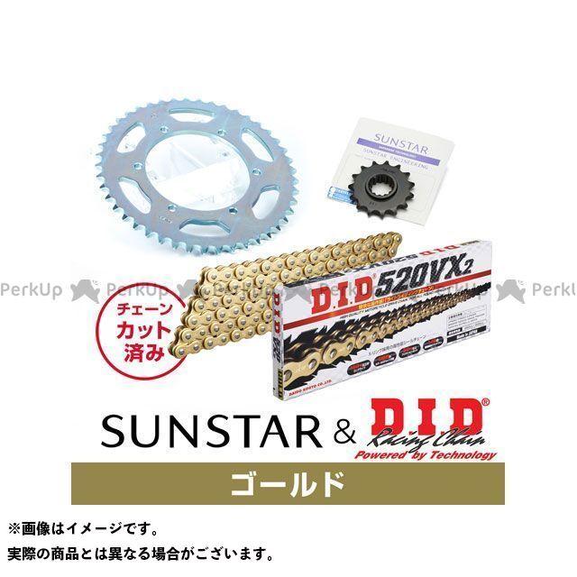 【特価品】SUNSTAR FZ400 スプロケット関連パーツ KD38007 スプロケット&チェーンキット(ゴールド) サンスター