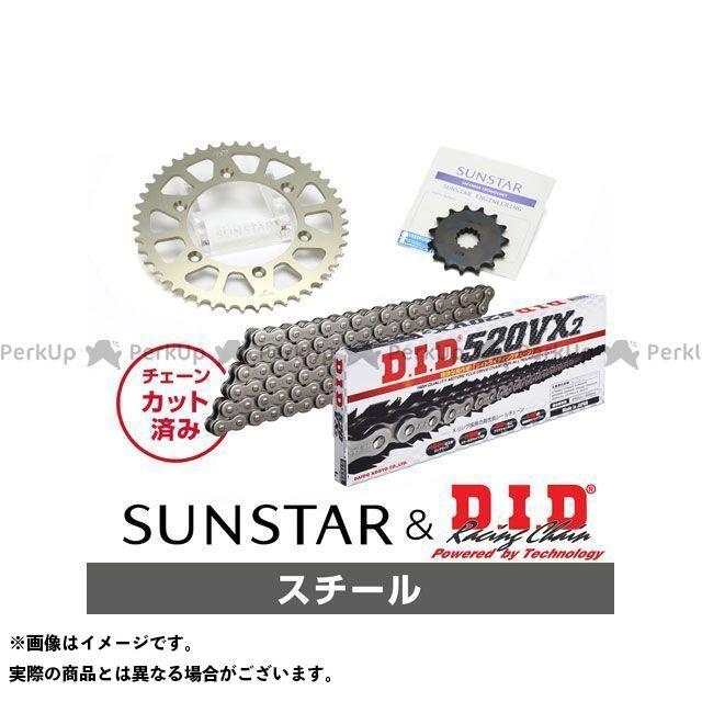 【特価品】SUNSTAR DF200E ジェベル200 SX200R スプロケット関連パーツ KD39501 スプロケット&チェーンキット(スチール) サンスター