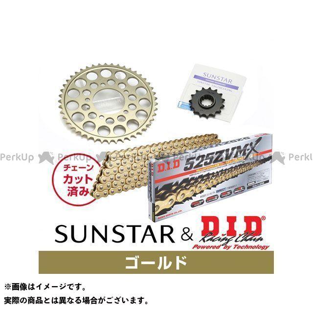 【特価品】SUNSTAR ZRX1200 ZRX1200R ZRX1200S スプロケット関連パーツ KD40813 スプロケット&チェーンキット(ゴールド) サンスター