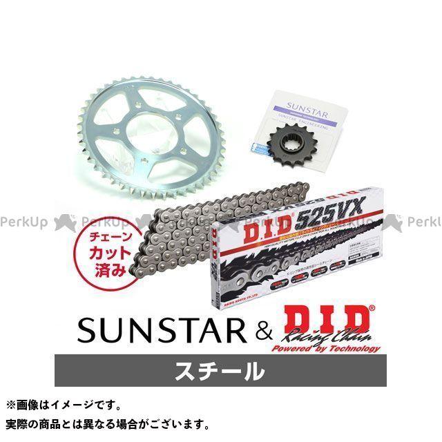 【特価品】SUNSTAR スティード400 スプロケット関連パーツ KD41905 スプロケット&チェーンキット(スチール) サンスター
