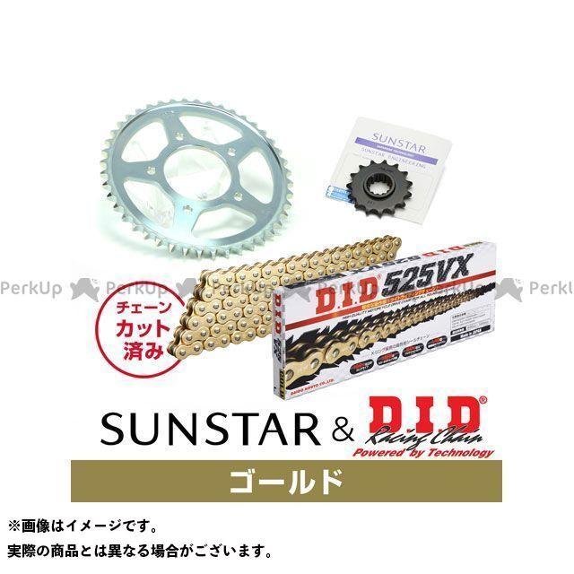 【特価品】SUNSTAR スティード400 スプロケット関連パーツ KD41907 スプロケット&チェーンキット(ゴールド) サンスター