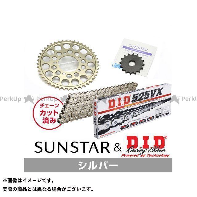 【特価品】SUNSTAR スティード400 スプロケット関連パーツ KD42002 スプロケット&チェーンキット(シルバー) サンスター