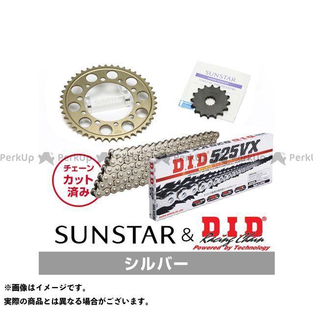 【特価品】SUNSTAR CBR600F4i スプロケット関連パーツ KD43402 スプロケット&チェーンキット(シルバー) サンスター