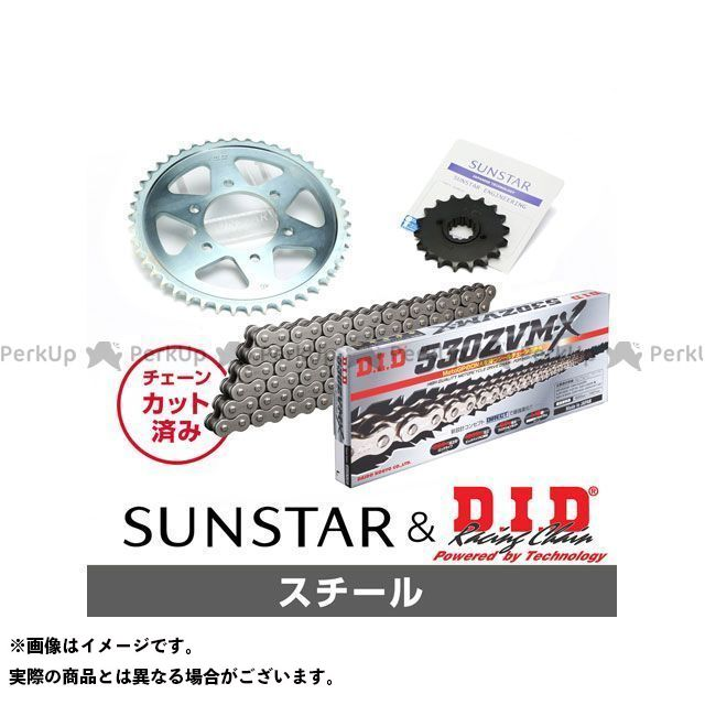 【特価品】SUNSTAR Z1000R スプロケット関連パーツ KD52515 スプロケット&チェーンキット(スチール) サンスター