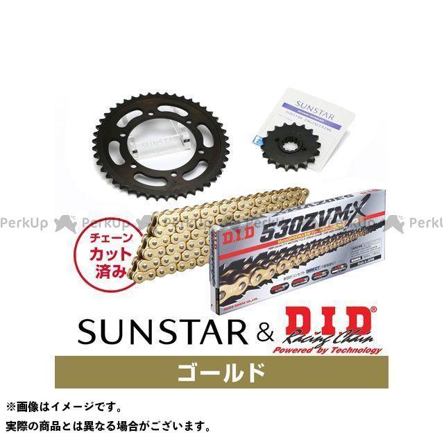【特価品】SUNSTAR エックスフォー スプロケット関連パーツ KD55617 スプロケット&チェーンキット(ゴールド) サンスター