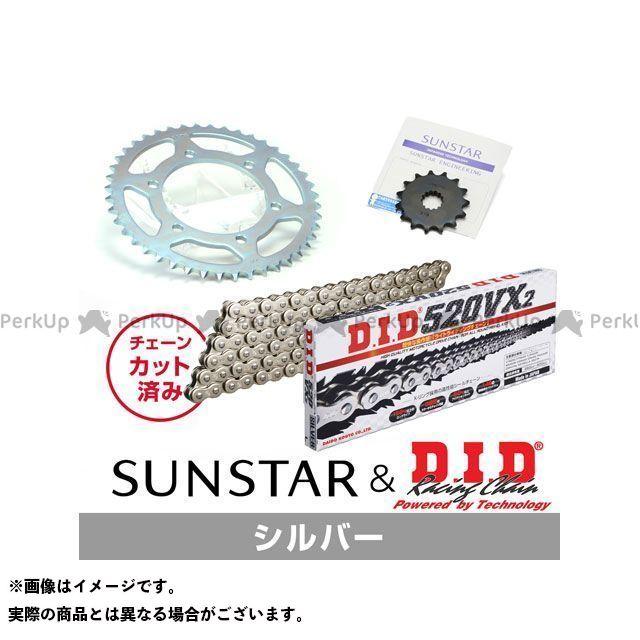 【特価品】SUNSTAR ゼファー カイ スプロケット関連パーツ KD3L506 スプロケット&チェーンキット(シルバー) サンスター