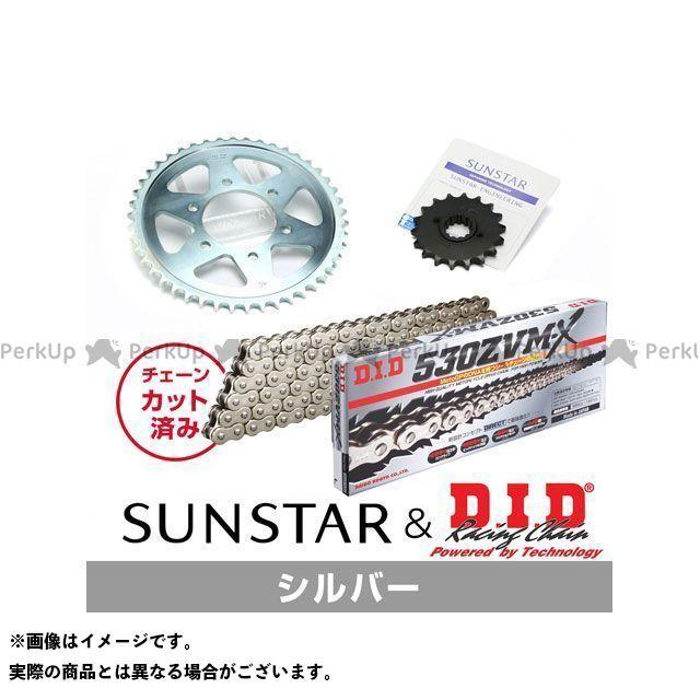 【特価品】SUNSTAR Z400FX Z400GP スプロケット関連パーツ KD5A716 スプロケット&チェーンキット(シルバー) サンスター
