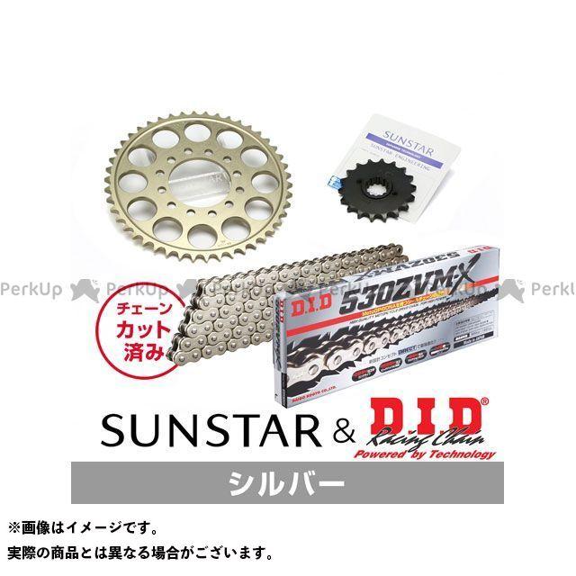 【特価品】SUNSTAR ZZR400 スプロケット関連パーツ KD5A812 スプロケット&チェーンキット(シルバー) サンスター