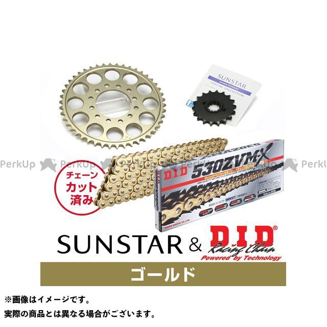 【特価品】SUNSTAR ZZR400 スプロケット関連パーツ KD5A913 スプロケット&チェーンキット(ゴールド) サンスター