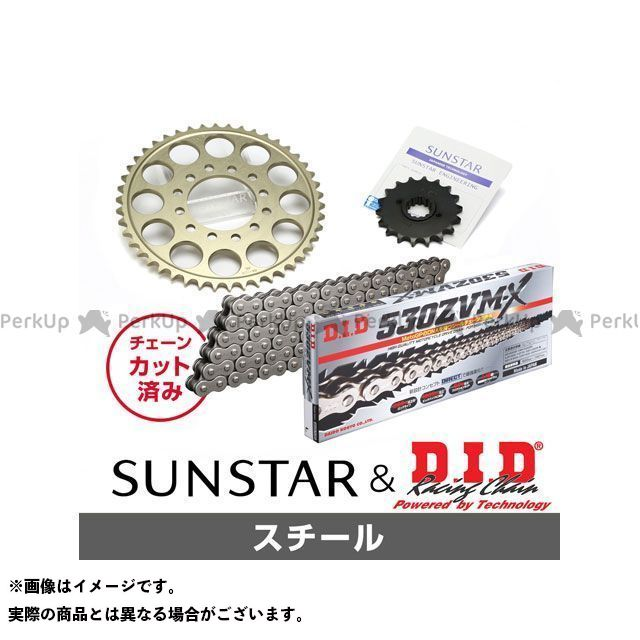 【特価品】SUNSTAR ZXR750 スプロケット関連パーツ KD5B611 スプロケット&チェーンキット(スチール) サンスター
