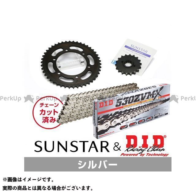 【特価品】SUNSTAR GPZ1100 スプロケット関連パーツ KD5D216 スプロケット&チェーンキット(シルバー) サンスター