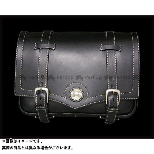 ラフテールレザーワークス ツーリング用バッグ ラフテール シャーマンサドルバッグ ブラック サイズ:L RoughTail leather works